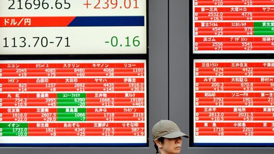 La Bolsa de Tokio abre con una caída del 0,58 % los 22.266,45 puntos