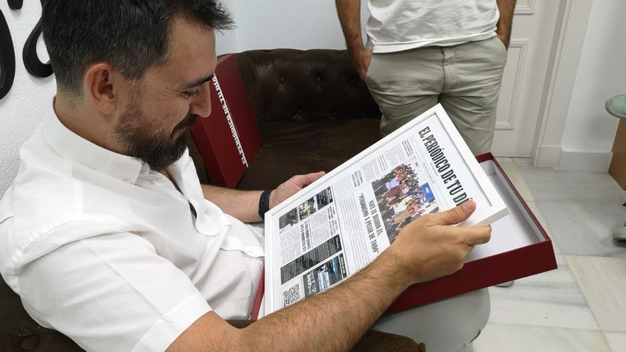 Ignacio Escolar en Almería durante un encuentro /foto: Kiko Barca