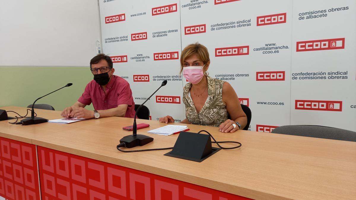Rueda de prensa de CCOO Castilla-La Mancha tras una sentencia que reconoce el suicidio como accidente laboral