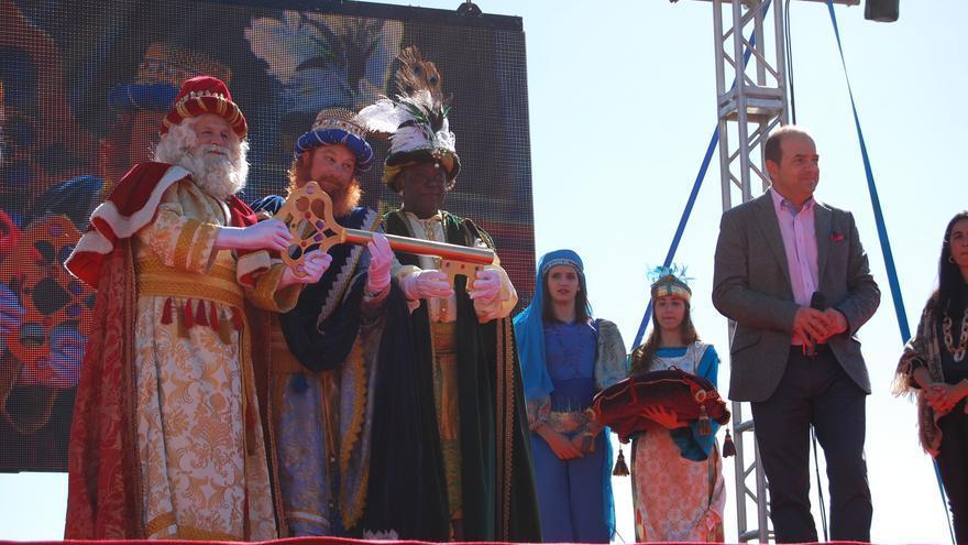 Los Reyes Magos reciben la llave mágica de la ciudad