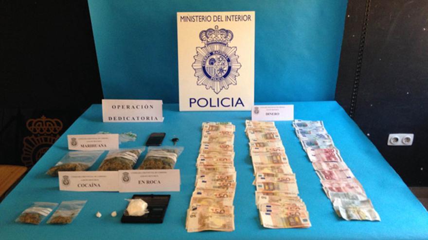 Material recuperado por la Policía Nacional.