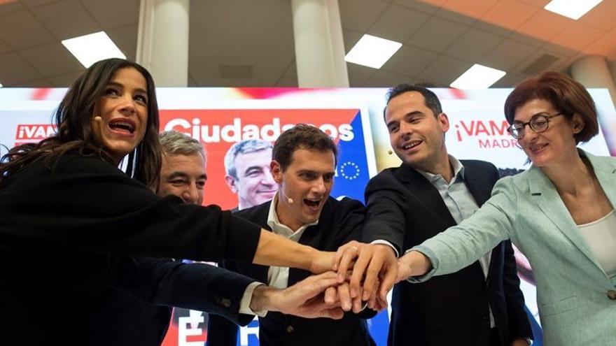 Begoña Villacís, Albert Rivera, Ignacio Aguado y Maite Pagaza.