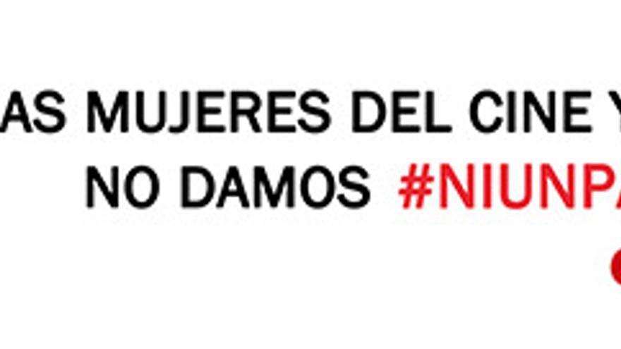 Pancarta de CIMA Canarias en apoyo a la manifestación del 8 de marzo.