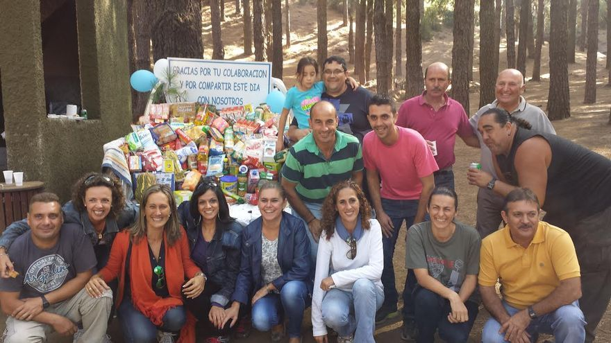 En la imagen, participantes del 'Primer Encuentro Solidario' organizapo por el PP en El Paso.