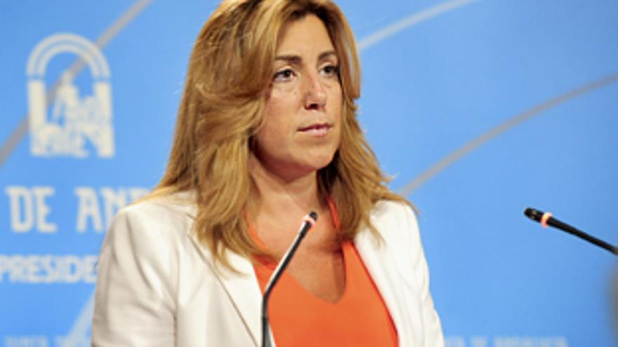 Susana Díaz en la presentación del anteproyecto de la Ley de Transparencia.