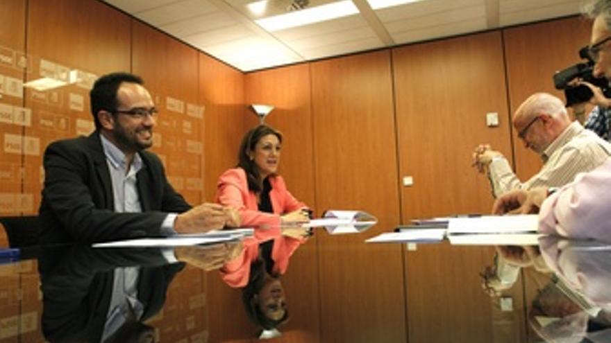 Antonio Hernando y Soraya Rodríguez se reúnen con sindicatos por plan prepara