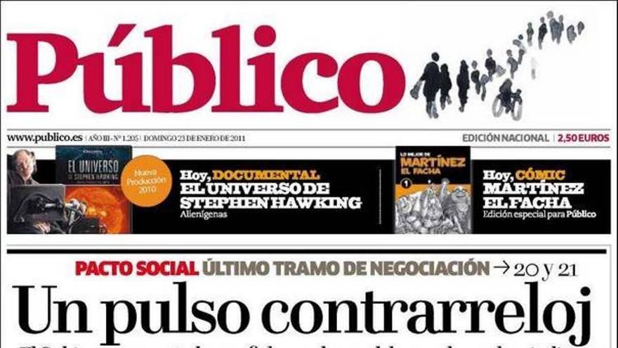 De las portadas del día (23/01/2011) #12