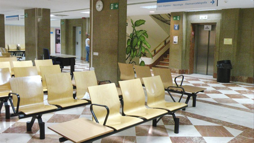 Interior del Centro de Especialidades de Quintana.