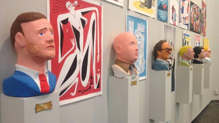 Una de las figuras de la exposición Animal Collective
