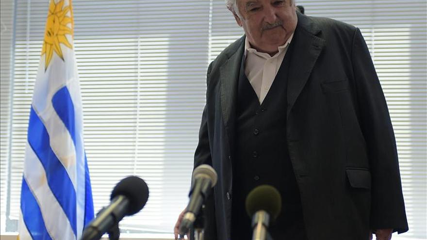 Una comparecencia de José Mujica ante la prensa //FOTO: EFE