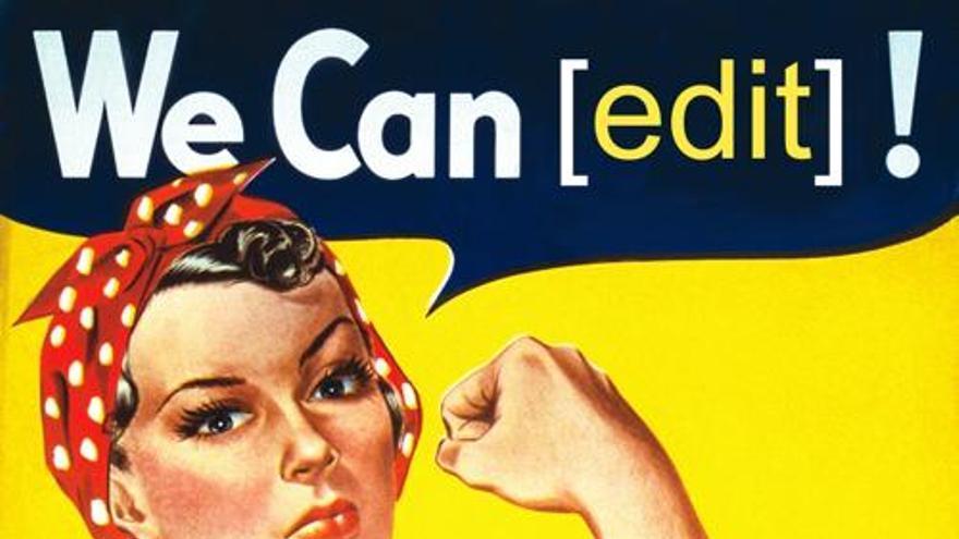 Imagen del Editatón del Día Internacional de la Mujer