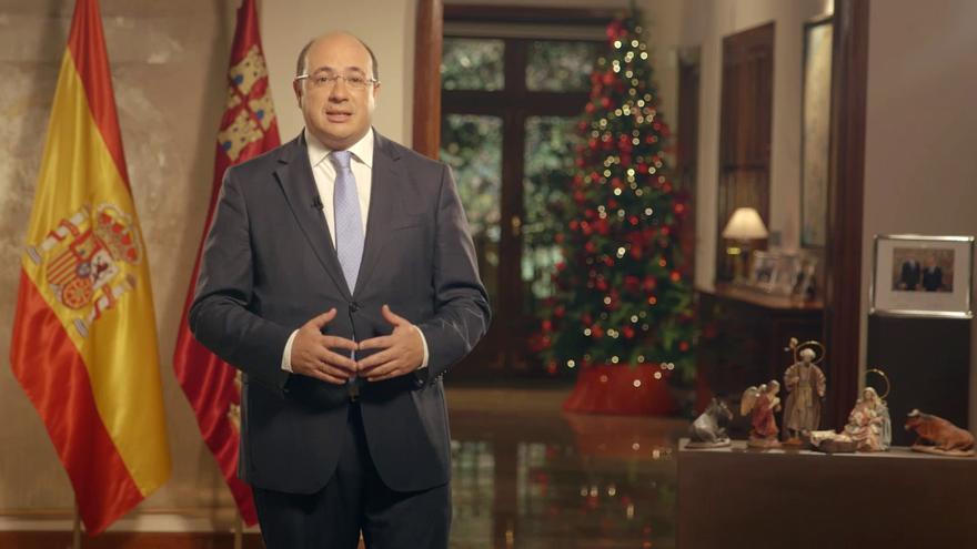 Pedro Antonio Sánchez felicitando la Navidad a los murcianos y murcianas