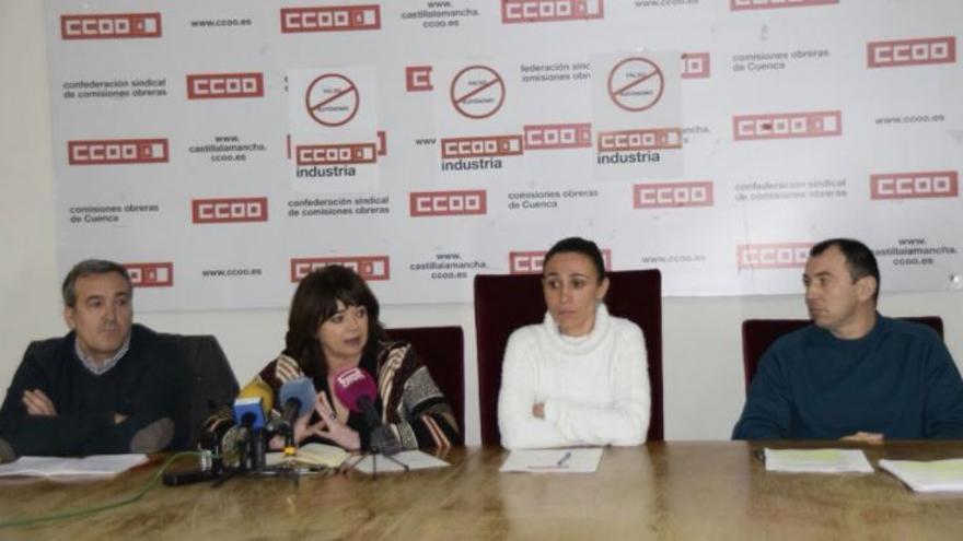 Rueda de prensa de CCOO en Cuenca / Lola Santillana