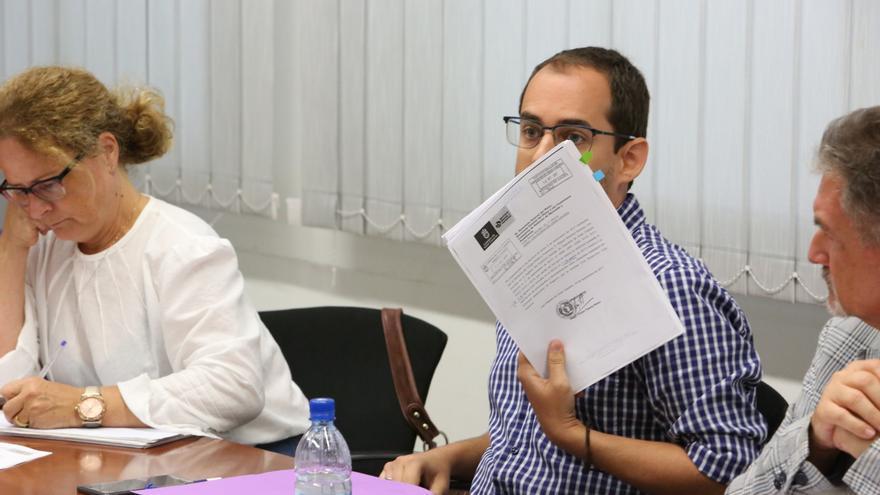 Miguel Montero en la Comisión del Pleno de Política Social, Cultura, Deportes e Igualdad en la que se informó sobre los contratos en Deportes