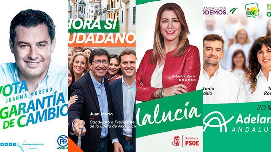Carteles electorales Andalucía