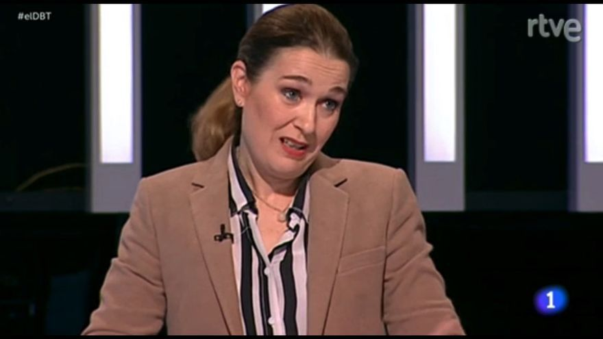 Marta Rivera de la Cruz (Ciudadanos) hace reír a Errejón hablando de copago
