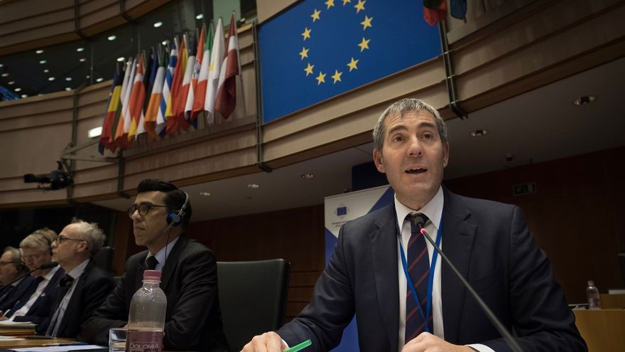Fernando Clavijo, en una intervención ante instancias comunitarias