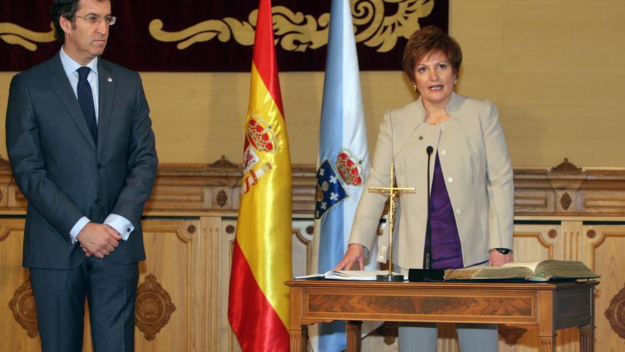Rocío Mosquera en su toma de posesión como conselleira de Sanidad en 2012