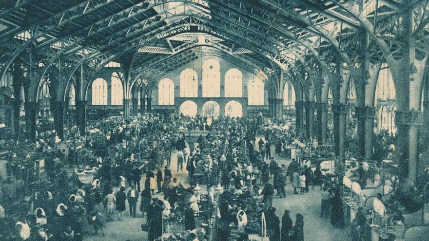 Imagen de archivo del Mercado Central en el inicio de su actividad hace 90 años