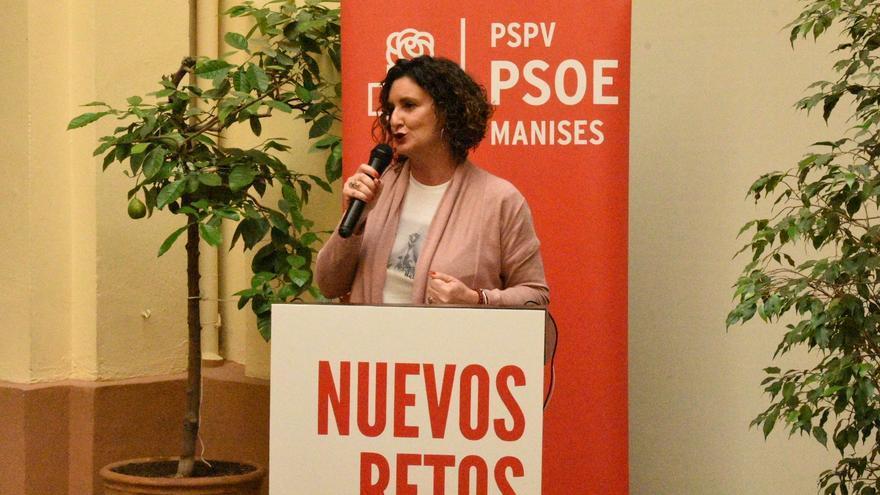 La secretaria provincial del PSPV de Valencia, Mercedes Caballero.