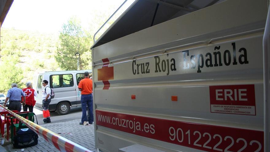 El grueso de voluntarios de Cruz Roja Albacete se desplazó a la residencia de estudiantes de Yeste.