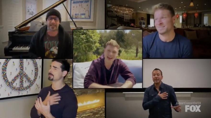 Captura del vídeo publicado por Backstreet Boys