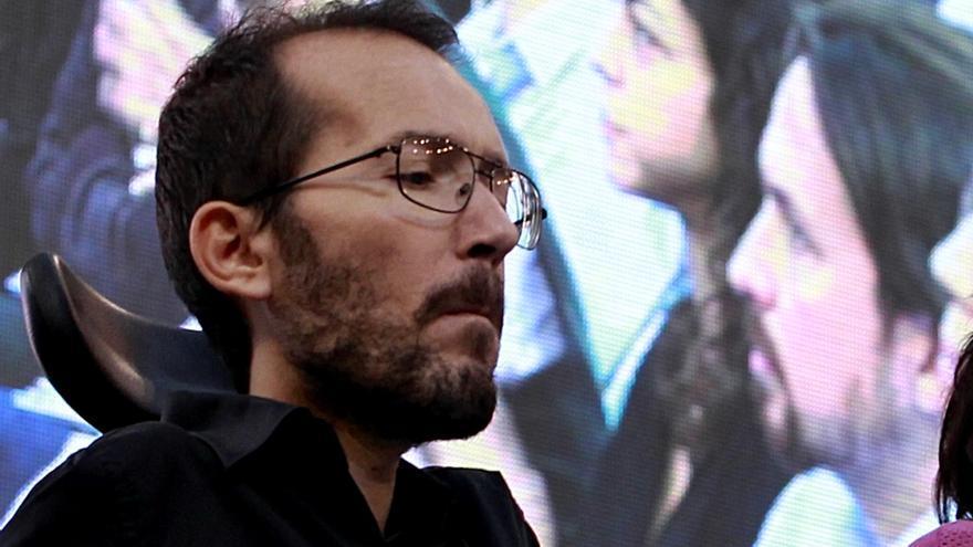 Pablo Echenique, en la Asamblea de Podemos en Vistalegre. / Marta Jara