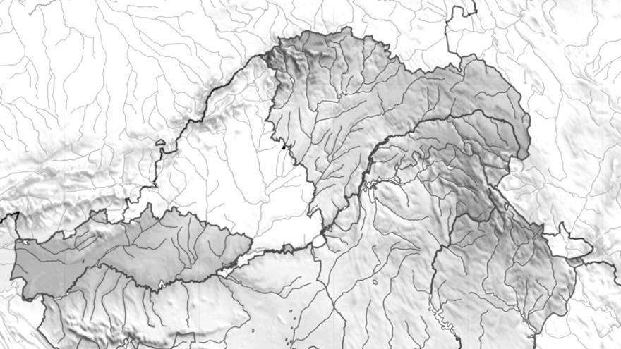 Mapa físico de Castilla-La Mancha / artehistoria.com