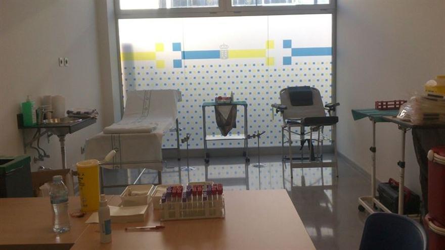 Sala de extracción de sangre / Foto cedida