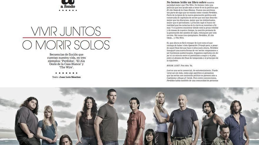 'Vivir juntos o morir solos', por Juan Luis Sánchez
