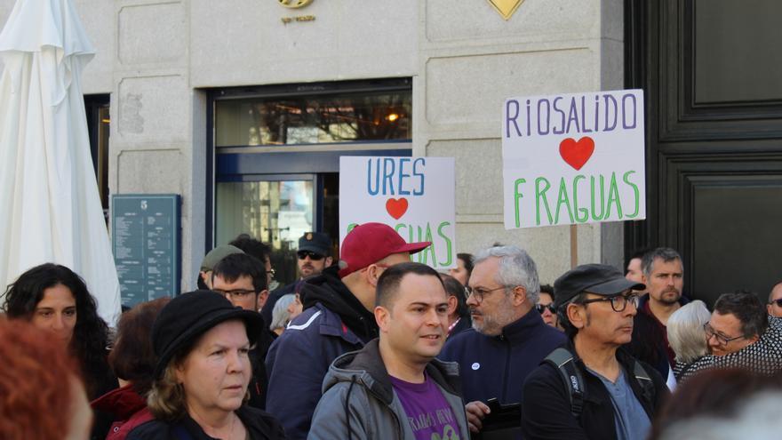 El diputado de Podemos Castilla-La Mancha, David Llorente, apoyó la manifestación
