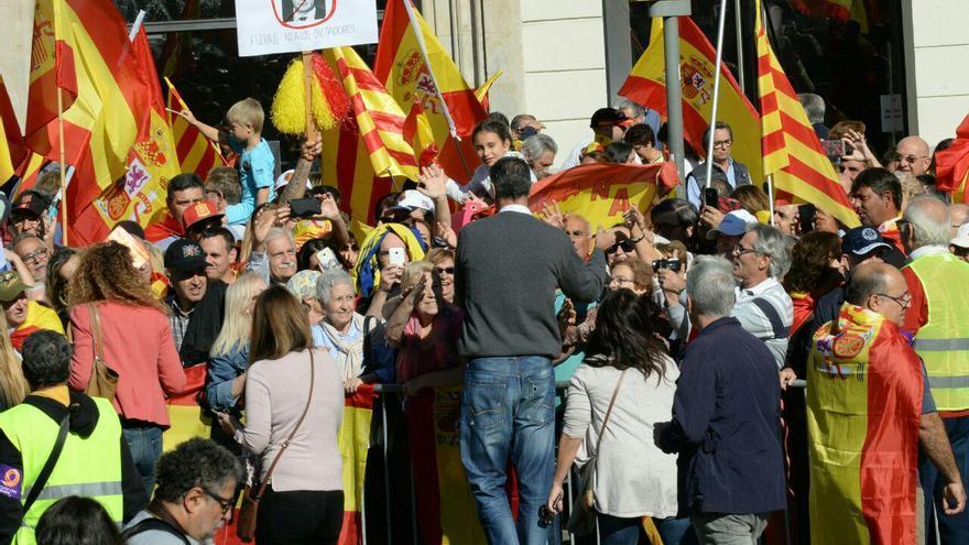 El líder del PP en Catalunya, Xavier García Albiol, en la manifestación para la unidad de España