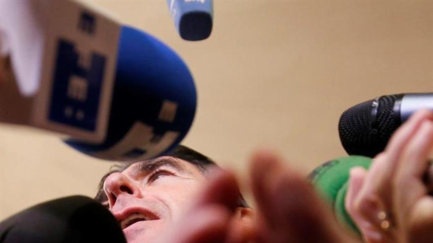 """El ministro de Industria, Energía y Turismo en funciones, José Manuel Soria, durante su intervención en la última jornada del foro """"Spain Investors Day""""."""