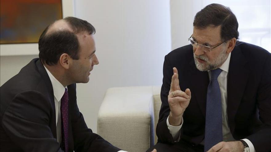 Rajoy y Manfred Weber analizan los desafíos de España en Parlamento Europeo