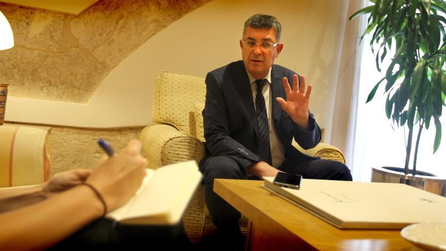 El president de las Corts Valencianes, Enric Morera. / Jesús Císcar