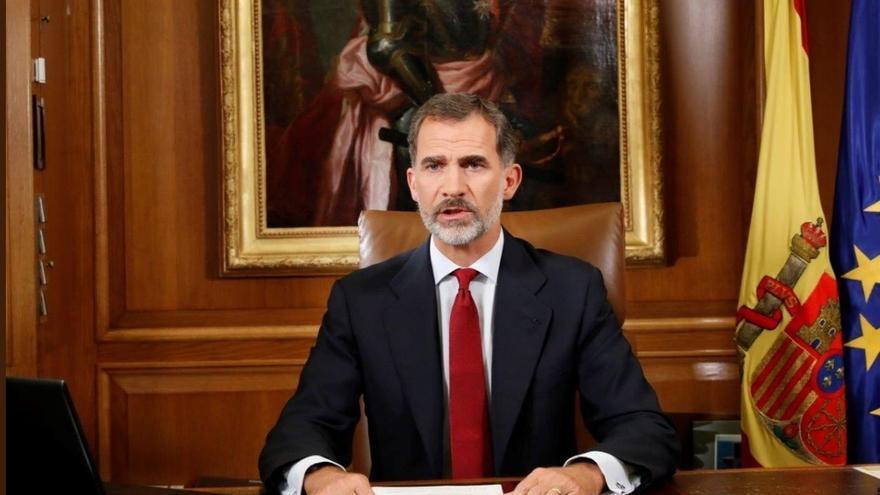 Texto íntegro del discurso del Rey Felipe VI pronunciado esta noche sobre la crisis en Cataluña