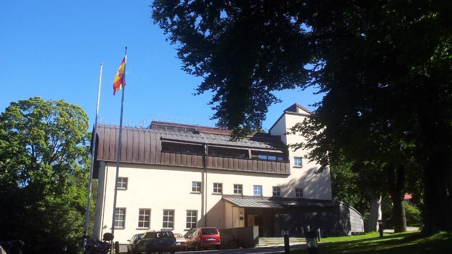 Fachada de la Embajada española en Estocolmo.