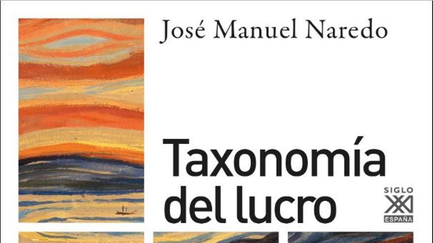 Portada del libro Taxonomía del lucro, de José Manuel Neredo.