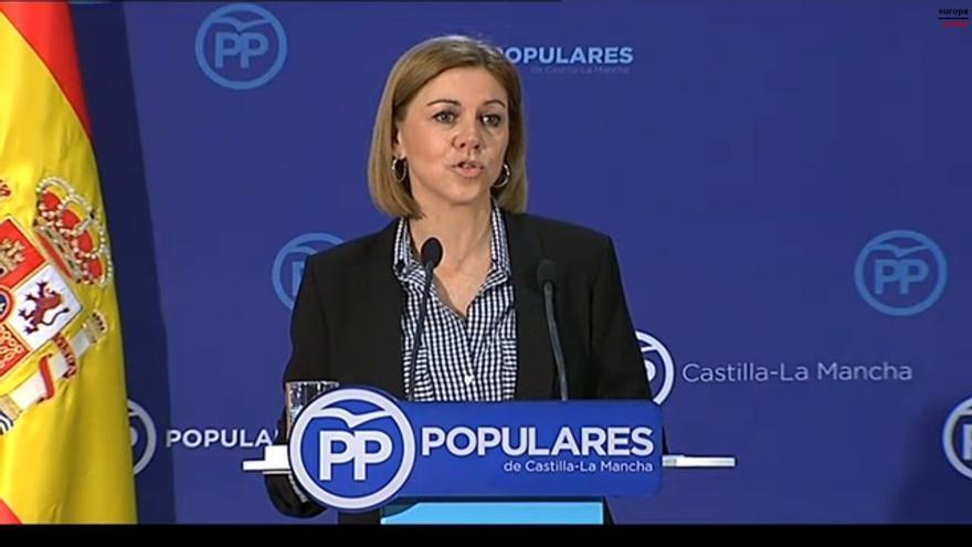 """Cospedal recuerda que cesó a Beltrán Gutiérrez y fue repescado por Aguirre: """"No controlo lo que haga el PP de Madrid"""""""