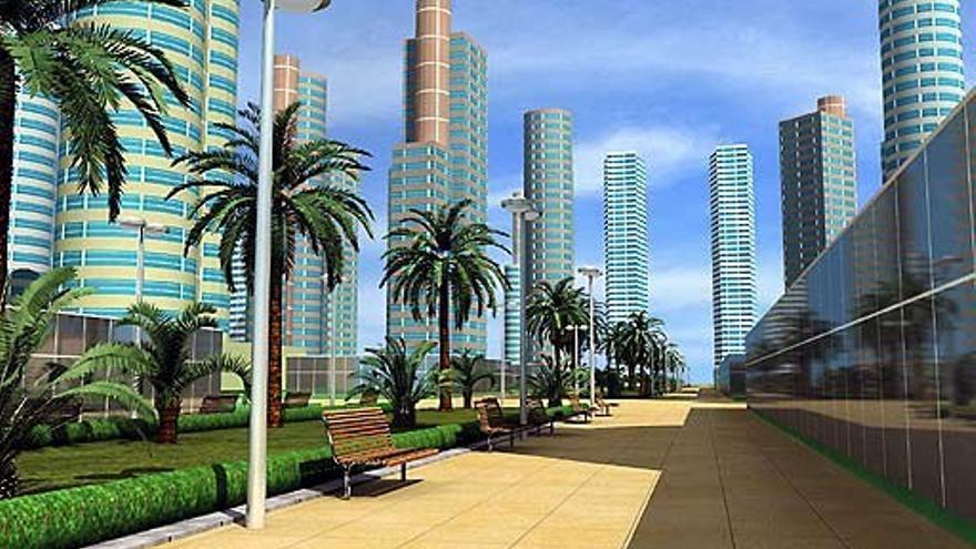 Imagen virtual del proyecto del 'Manhattan de Cullera'