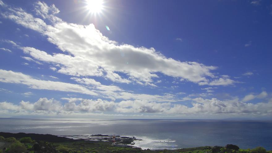 Temperaturas en ligero ascenso  este lunes en La Palma