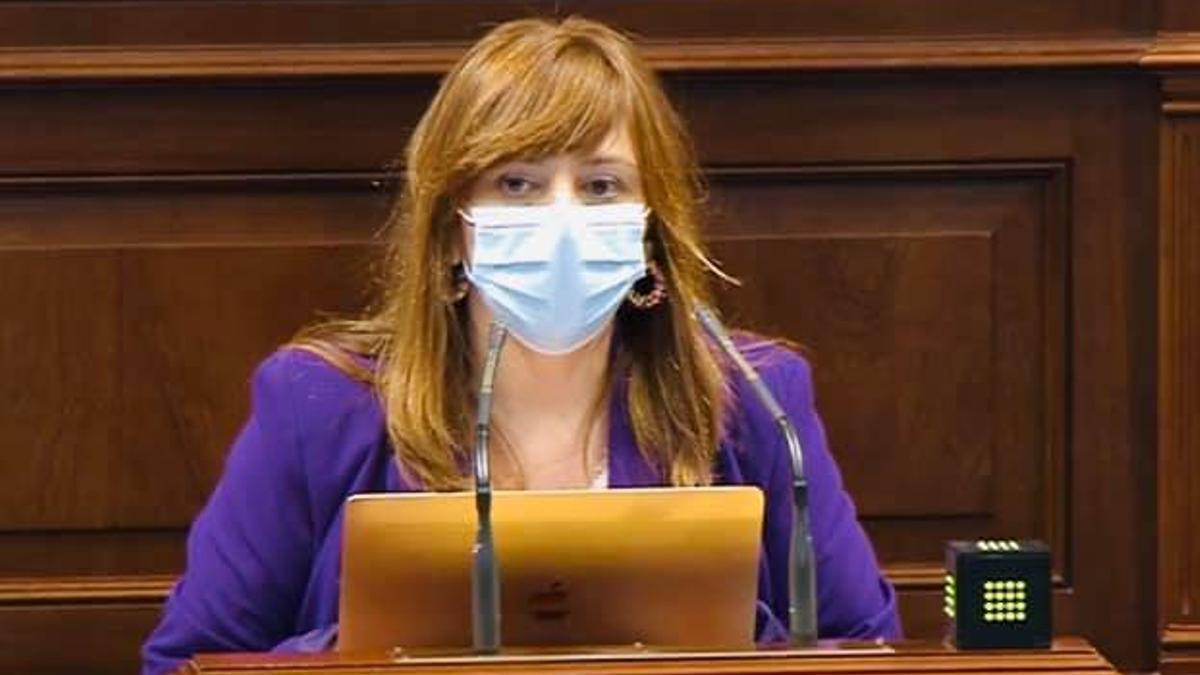 Nieves Lady Barreto en el Parlamento.