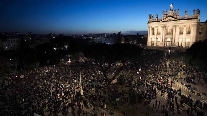 """Manifestación de este sábado en Roma de las """"sardinas"""""""