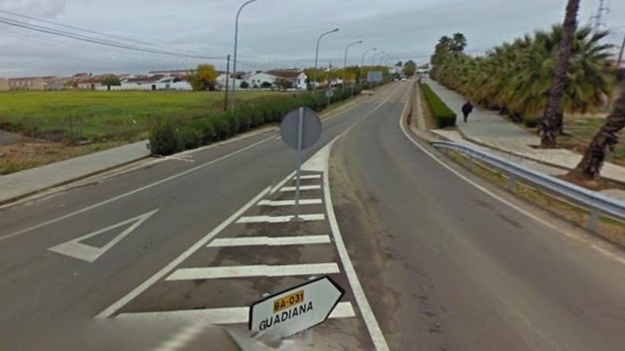 El apelativo a Franco desapareció de esta señal de tráfico / Google Maps