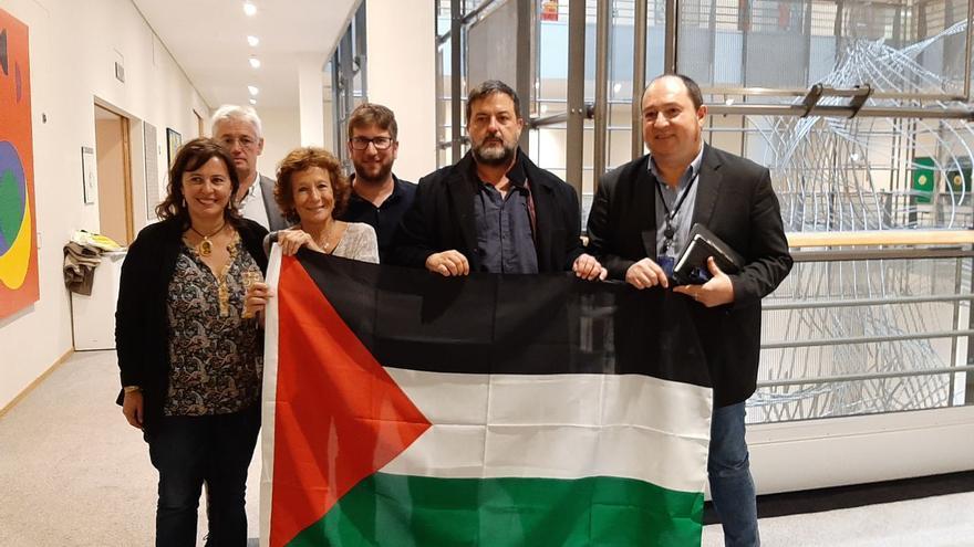 Reunión de Nines Maestro con eurodiputados, el 15 de octubre de 2019 en Bruselas.