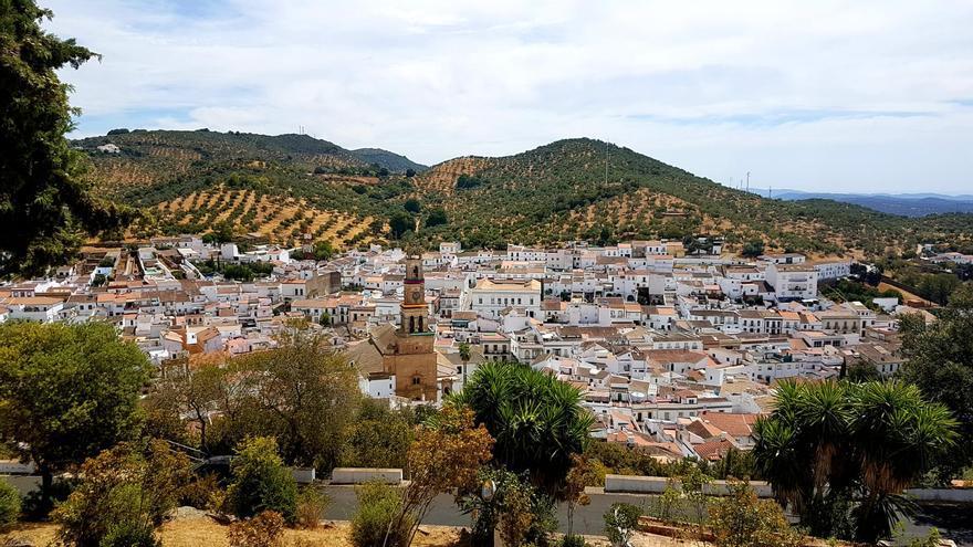 Panorámica de Constantina, en la Sierra Norte de Sevilla.