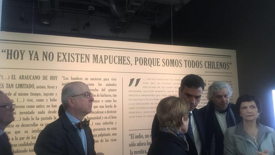 Pedro Sánchez, en su visita a Chile.