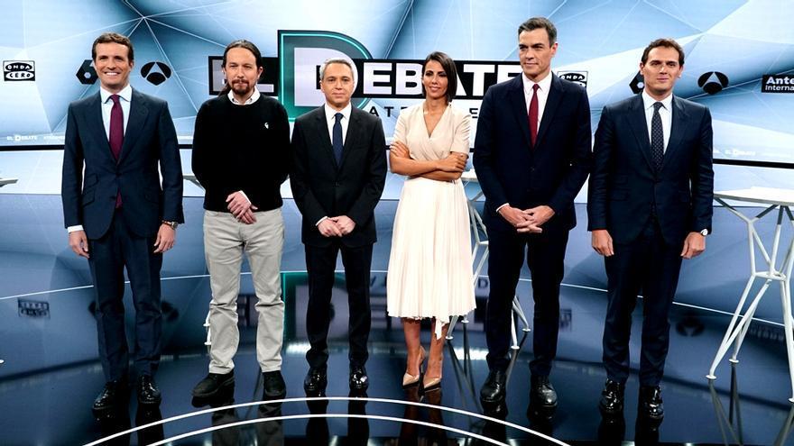 El segundo gran debate barre más todavía con 9.4 millones y un 48.8% entre Antena 3 y laSexta
