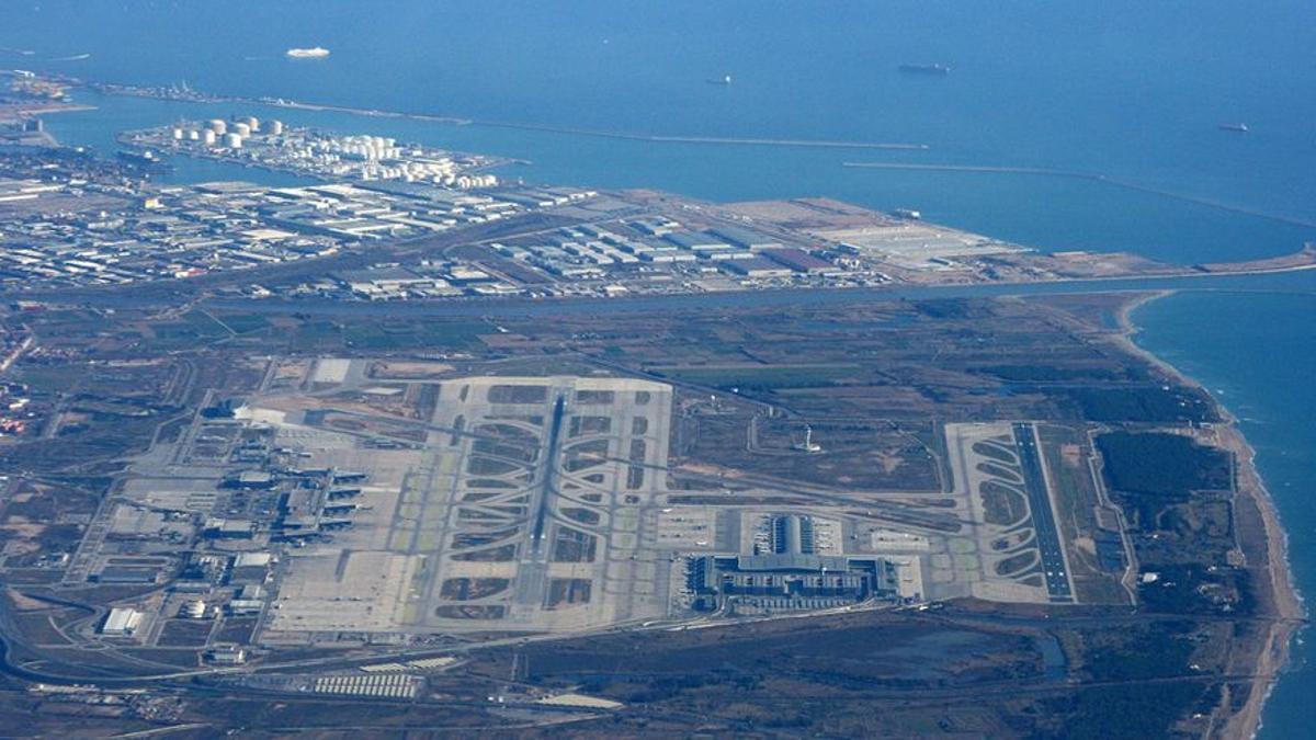 Vista aérea del Aeropuerto Josep Tarradellas Barcelona-El Prat