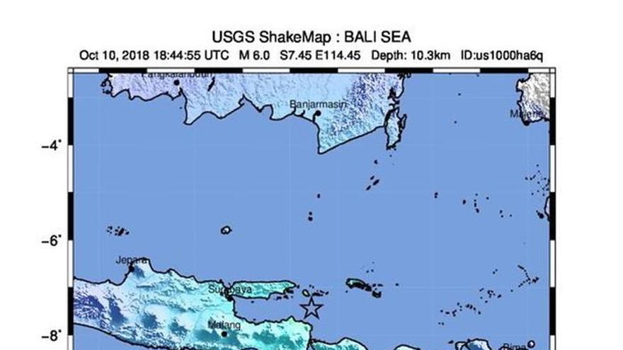 Al menos 3 muertos tras un terremoto de magnitud 6 en Indonesia